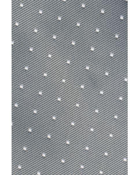 Grey White Dot Pocket Square