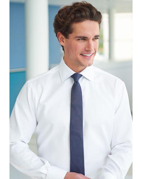 Altare Classic Fit Cotton Herringbone Shirt