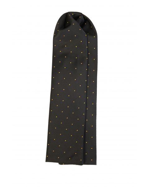 Black Gold Spot Cravat