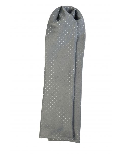Grey White Dot Cravat