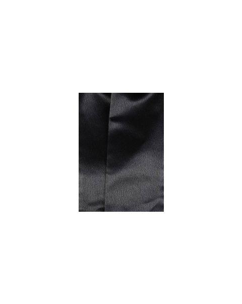 Black Plain Shiny Pocket Square