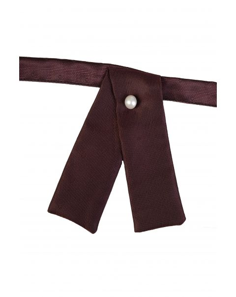 Burgundy Self Spot Neck Tab
