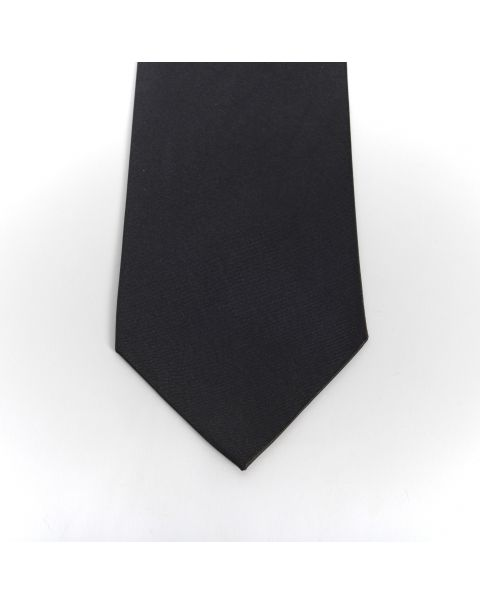 Black Plain Shiny Tie