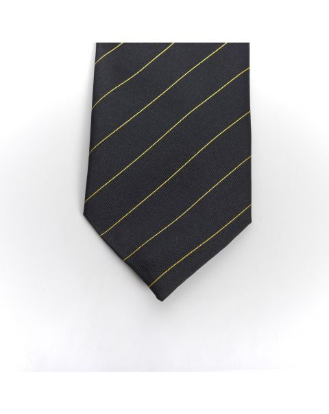 Black Gold Stripe Tie