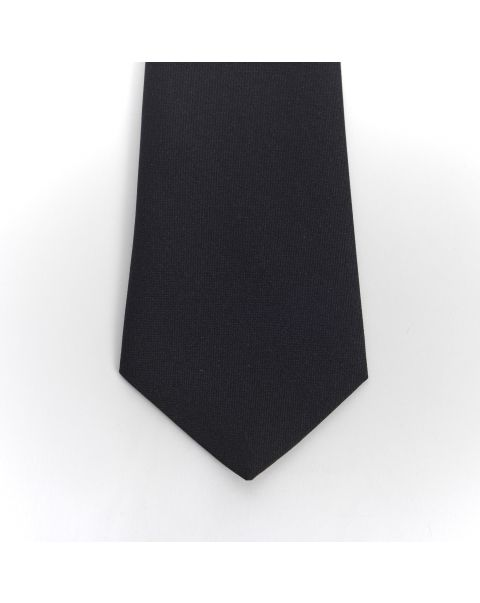 Black Plain Matt Tie