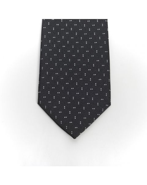 Black Double White Dot Tie
