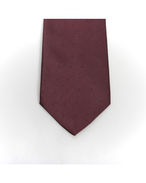 Burgundy Self Spot Tie