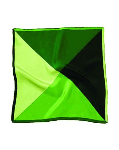 Four Colour Green Silk Handkerchief