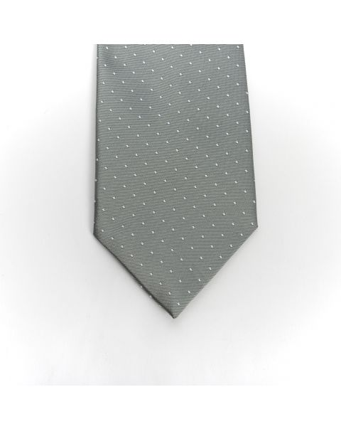 Grey White Dot Tie