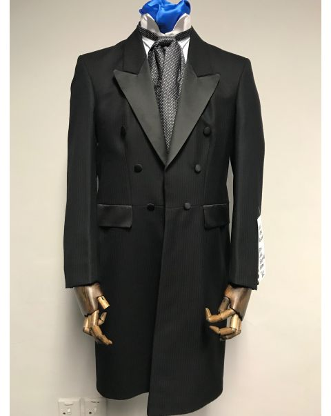 Black Herringbone Frockcoat - Chest 36
