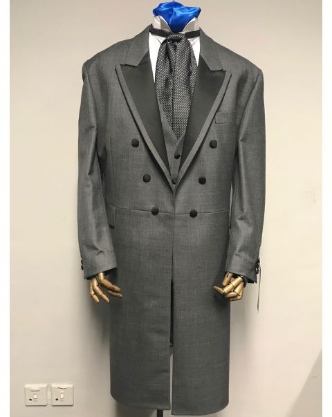Moksh Grey Frockcoat Three Piece Suit - Chest 50