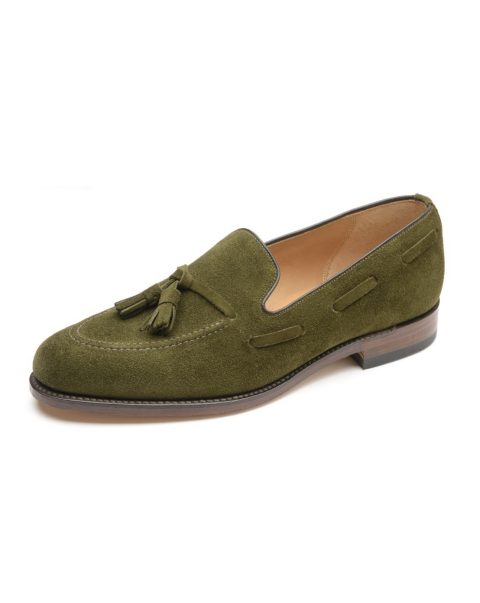 Lincoln Green Suede by Loake