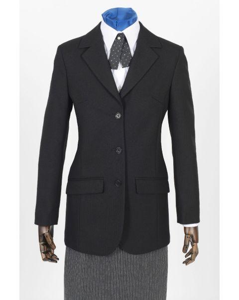 Herringbone Button Three Jacket - Plain Trim