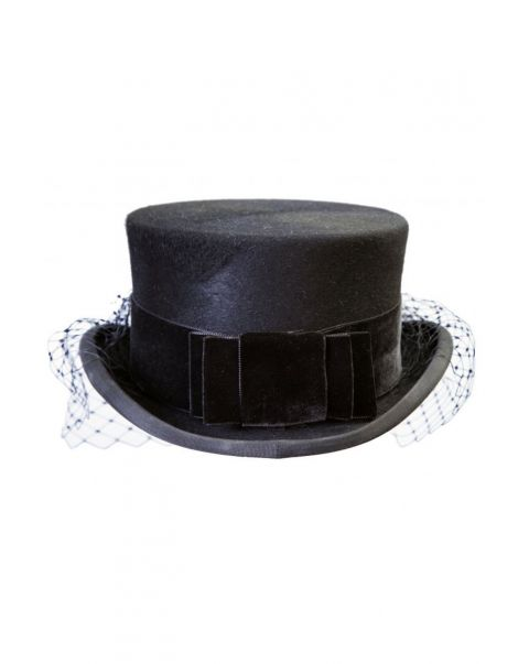 Black Velvet Hat Bow