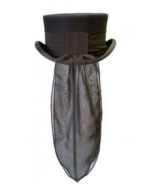 Black Chiffon Hat Trail