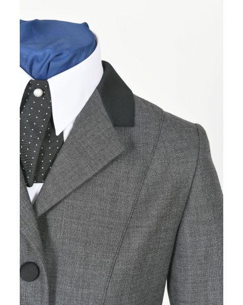Moksh Grey Chepstow Jacket - Satin Trim
