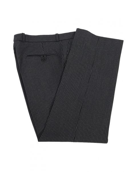 Number Three Stripe Trousers - Plain Front