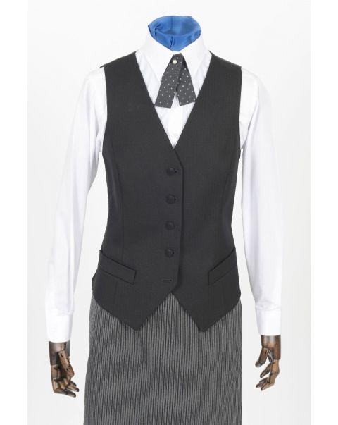Herringbone Waistcoat - Velvet Buttons