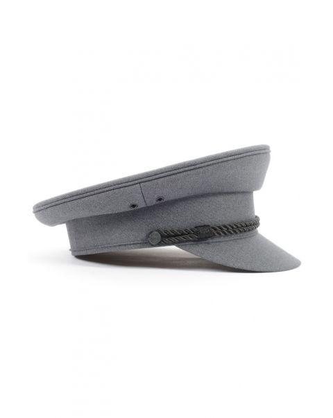 Mid Grey Chauffeur's Cap - Twin Cord - Cloth Peak