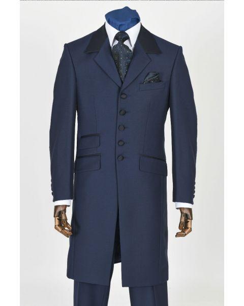 Blue Icon Jacket - Satin Trim