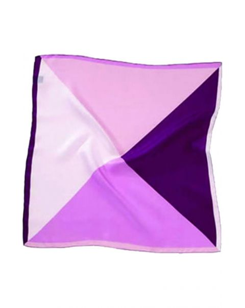 Four Colour Pink Silk Handkerchief