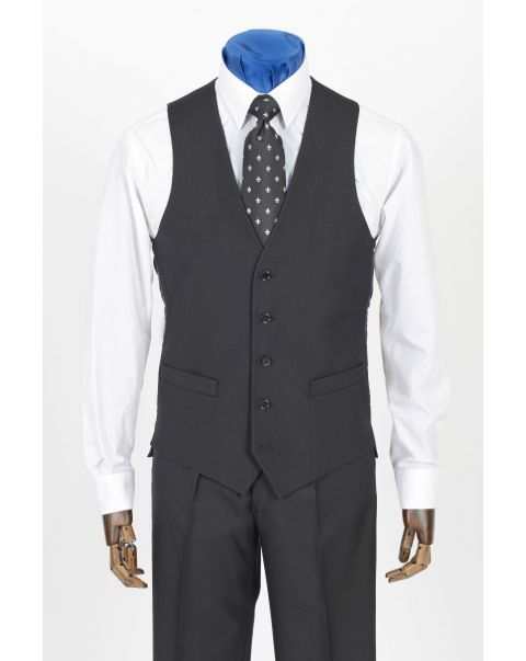 Charcoal Staypressed Waistcoat