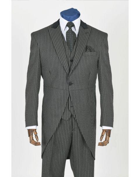 Striped Tailcoat - Velvet Trim
